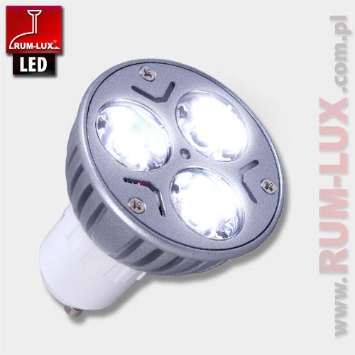 Żarówka LED-HAL 3x1W GU10 ZB